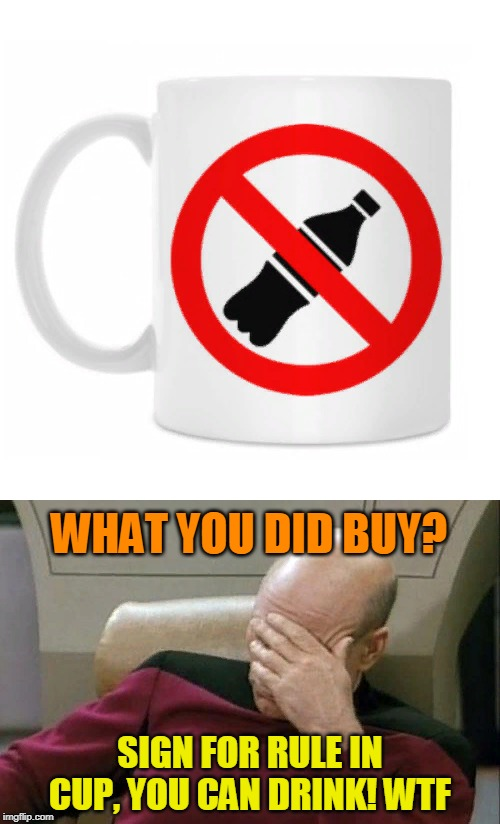 "Sign in cup ""do not drink""! Wtf 
