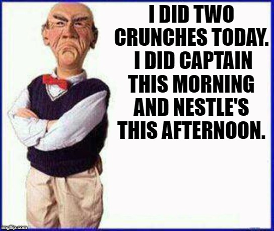 Image result for captain nestle crunches meme