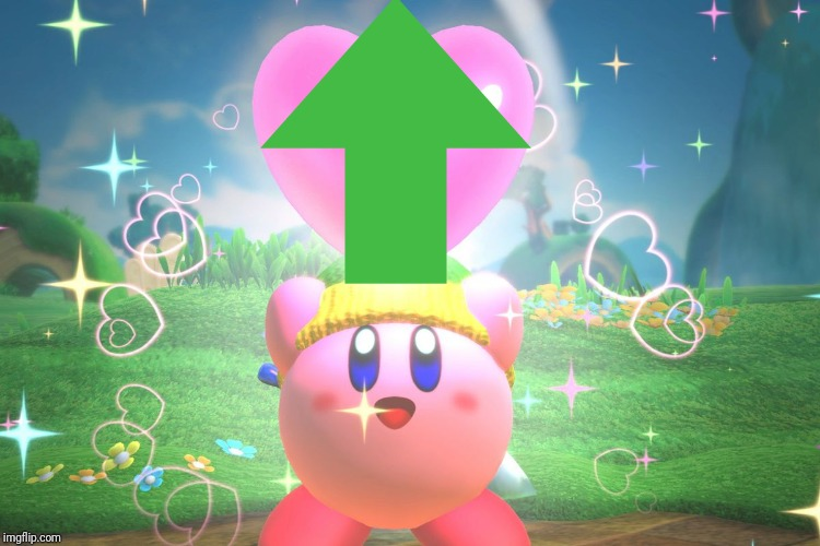Kirby using a friend heart | image tagged in kirby using a friend heart | made w/ Imgflip meme maker