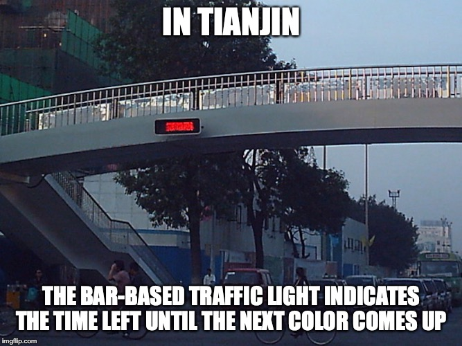 """Bar"" Traffic Light 