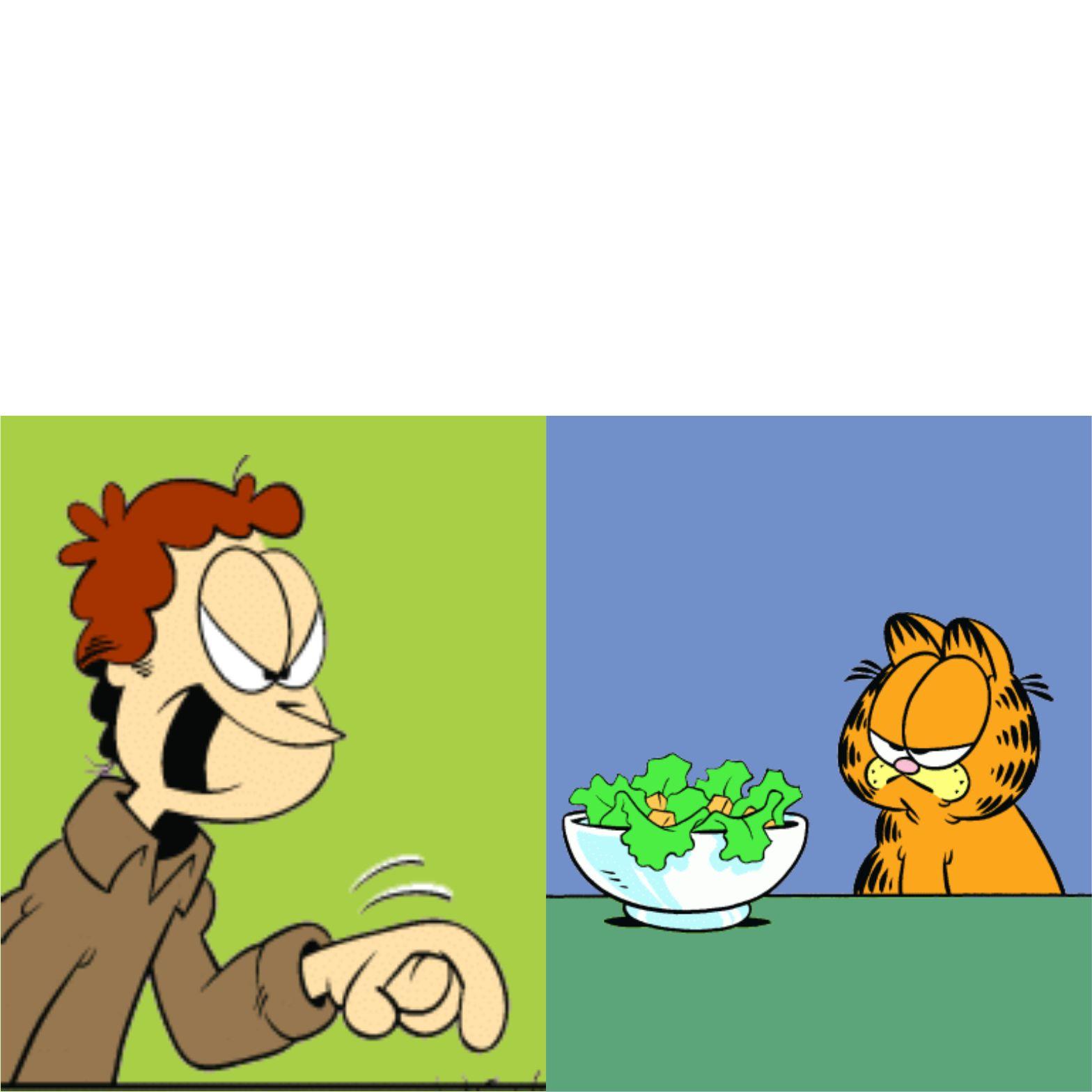 Jon Yelling Garfield Blank Template Imgflip
