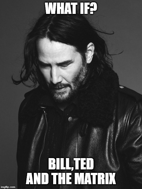 WHAT IF? BILL,TED AND THE MATRIX | image tagged in keanu reeves,the matrix,funny memes,bill and ted,popular | made w/ Imgflip meme maker
