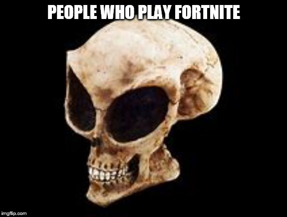People who play Fortnite will look like this |  PEOPLE WHO PLAY FORTNITE | image tagged in fortnite meme,idiot skull,skull,alien guy,repost | made w/ Imgflip meme maker
