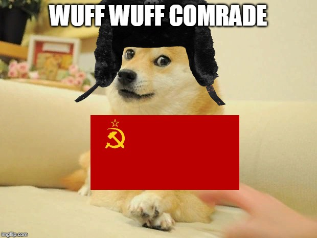 Doge 2 | WUFF WUFF COMRADE | image tagged in memes,doge 2,dogs,mother russia,soviet union | made w/ Imgflip meme maker