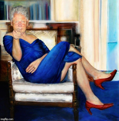 Bill Clinton in Blue Dress | image tagged in bill clinton in blue dress | made w/ Imgflip meme maker