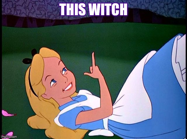 Alice in Wonderland |  THIS WITCH | image tagged in alice in wonderland | made w/ Imgflip meme maker