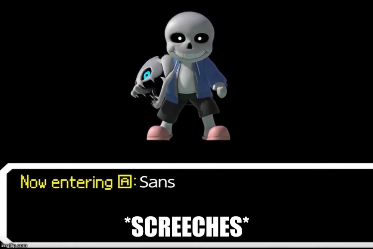 We did it y'all. We got Sans in Smash. | *SCREECHES* | image tagged in video games,sans,super smash bros,nintendo,undertale | made w/ Imgflip meme maker