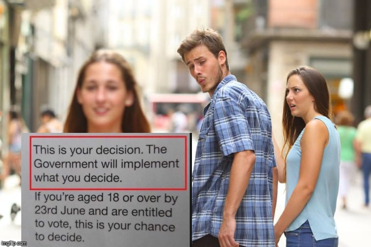 Distracted Boyfriend Meme | image tagged in distracted boyfriend,brexit,london,london bridge,corbyn's labour party,boris johnson | made w/ Imgflip meme maker
