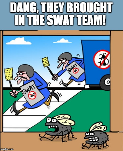 DANG, THEY BROUGHT IN THE SWAT TEAM! | made w/ Imgflip meme maker