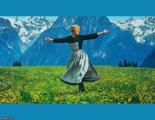 the sound of music happiness | image tagged in the sound of music happiness | made w/ Imgflip meme maker