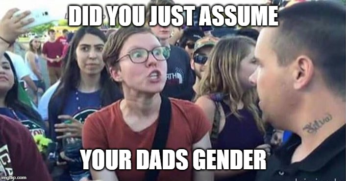 Did you just assume my gender | DID YOU JUST ASSUME YOUR DADS GENDER | image tagged in did you just assume my gender | made w/ Imgflip meme maker
