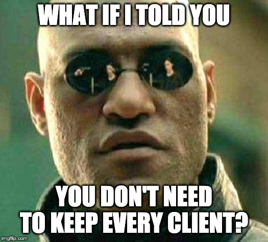 arguments with clients