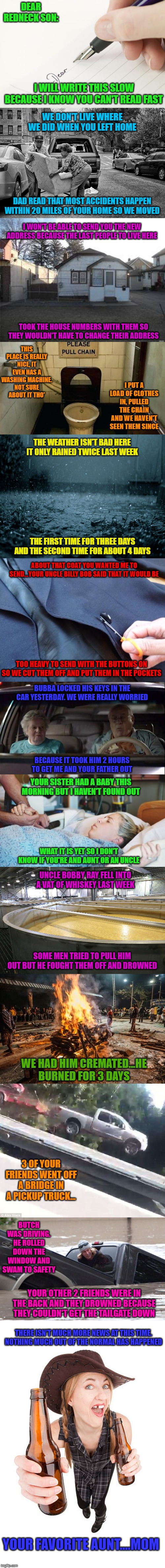 "For my 21 million point meme I give you ""The Redneck Letter"". Thank you all for your continued support!!! 