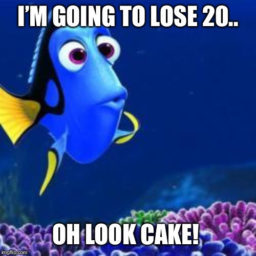 Addicted | I'M GOING TO LOSE 20.. OH LOOK CAKE! | image tagged in oh look,food,weight loss,diets | made w/ Imgflip meme maker
