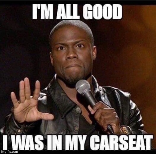 Lil Fender Bender | image tagged in kevin hart,car accident,comedian | made w/ Imgflip meme maker