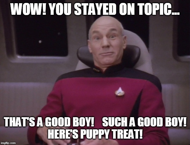 You stayed on topic! | WOW! YOU STAYED ON TOPIC... THAT'S A GOOD BOY!    SUCH A GOOD BOY! HERE'S PUPPY TREAT! | image tagged in good boy,facebook,twitter,doggie,funny memes | made w/ Imgflip meme maker
