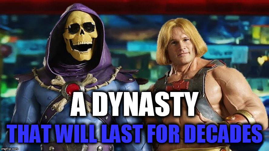 Eternia Victory Leadership Initiative | A DYNASTY THAT WILL LAST FOR DECADES | image tagged in victory leadership initiative,eternia,dynasty,heman,skeletor,money supermarket | made w/ Imgflip meme maker