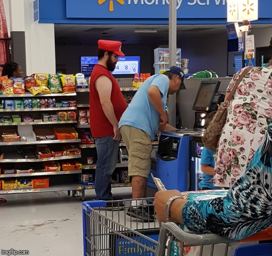 Walmart Mario | image tagged in people of walmart,walmart,mario,super mario,shopping,super mario bros | made w/ Imgflip meme maker