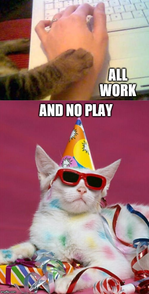 all work and no play | ALL WORK AND NO PLAY | image tagged in work | made w/ Imgflip meme maker
