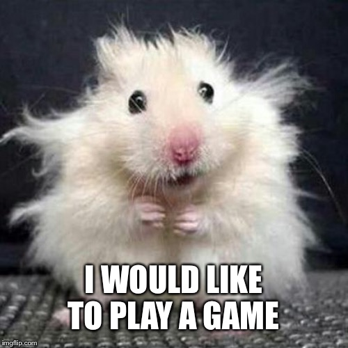 Stressed Mouse | I WOULD LIKE TO PLAY A GAME | image tagged in stressed mouse | made w/ Imgflip meme maker