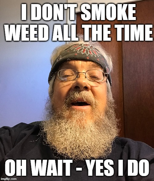 smoke weed all the time | I DON'T SMOKE WEED ALL THE TIME OH WAIT - YES I DO | image tagged in weed,smoke weed,pot,hippie | made w/ Imgflip meme maker