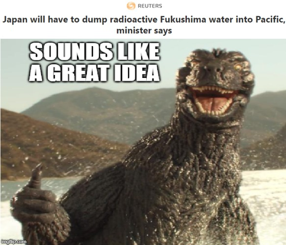 image tagged in godzilla,japan,funny memes,funny,memes,special kind of stupid | made w/ Imgflip meme maker