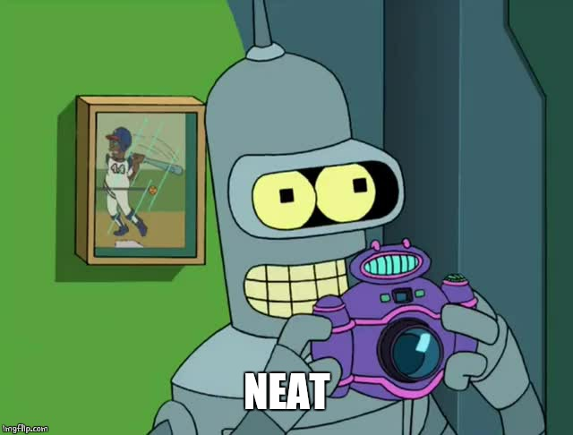 BENDER NEAT | NEAT | image tagged in bender neat | made w/ Imgflip meme maker