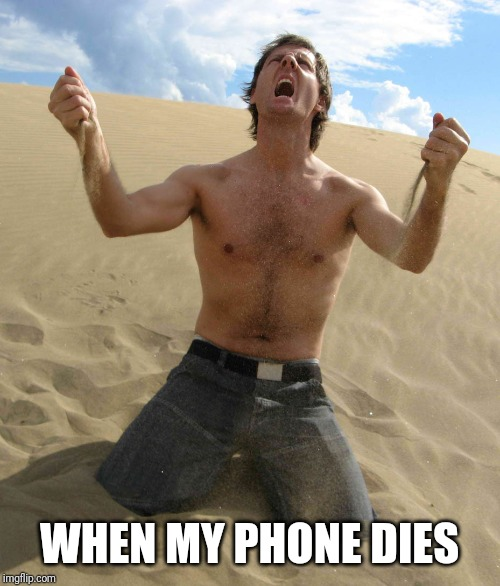 NOOOOOOO!!!!! | WHEN MY PHONE DIES | image tagged in nooooooo | made w/ Imgflip meme maker
