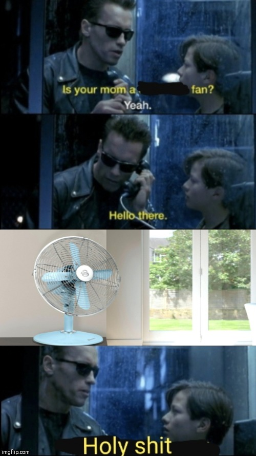 image tagged in terminator,meme,fan,star wars | made w/ Imgflip meme maker