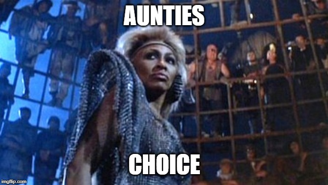 Tina Turner - Thunderdome | AUNTIES CHOICE | image tagged in tina turner - thunderdome | made w/ Imgflip meme maker