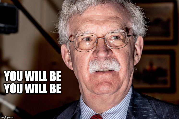 Bolton Yoda |  YOU WILL BE YOU WILL BE | image tagged in bolton,yoda,scared,the apprentice,wmd | made w/ Imgflip meme maker