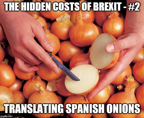 THE HIDDEN COSTS OF BREXIT - #2 TRANSLATING SPANISH ONIONS | image tagged in brexit | made w/ Imgflip meme maker