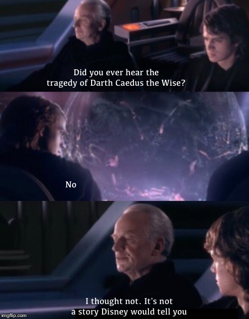 Ok, how about Darth Vectivus? | Did you ever hear the tragedy of Darth Caedus the Wise? No I thought not. It's not a story Disney would tell you | image tagged in star wars,memes,tragedy of darth plagueis the wise,expanded universe,legacy of the force,jacen solo | made w/ Imgflip meme maker