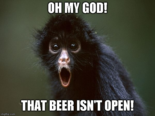 ooooh | OH MY GOD! THAT BEER ISN'T OPEN! | image tagged in ooooh | made w/ Imgflip meme maker