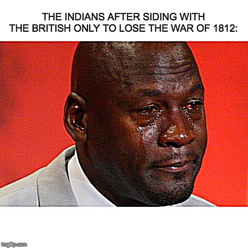 THE INDIANS AFTER SIDING WITH THE BRITISH ONLY TO LOSE THE WAR OF 1812: | image tagged in politics,memes,reactions | made w/ Imgflip meme maker