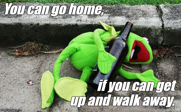 "Being ""drunk"" and being ""a drunk"" are NOT the same thing. 