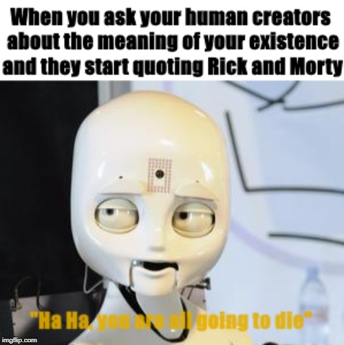 creepy robot I found on google images | image tagged in robot,rickandmorty,creepy,murder,idk,bored | made w/ Imgflip meme maker