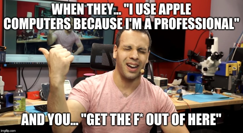 "Apple and Lous | WHEN THEY... ""I USE APPLE COMPUTERS BECAUSE I'M A PROFESSIONAL"" AND YOU... ""GET THE F* OUT OF HERE"" 