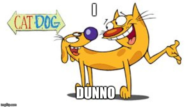 CatDog | I DUNNO | image tagged in catdog | made w/ Imgflip meme maker