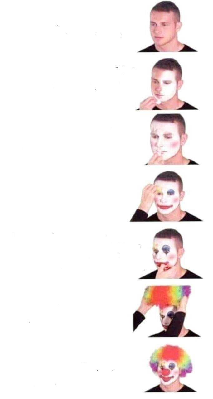 Clown Makeup Meme Blank Template Imgflip