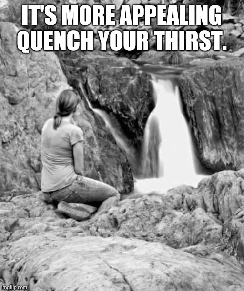 Sarah Quenching Thirst | IT'S MORE APPEALING QUENCH YOUR THIRST. | image tagged in funny,grammar,friends | made w/ Imgflip meme maker