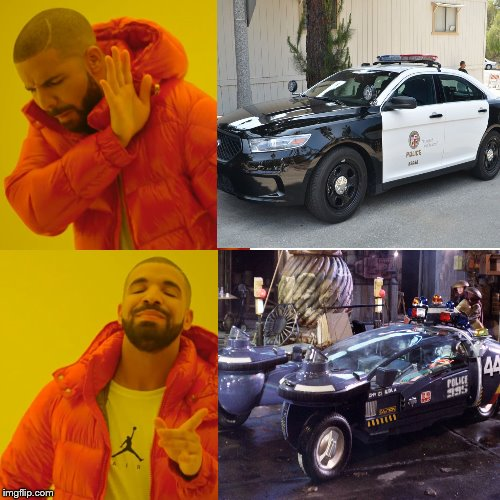 2019 vs 2019 | image tagged in blade runner,police car,2019,lapd | made w/ Imgflip meme maker