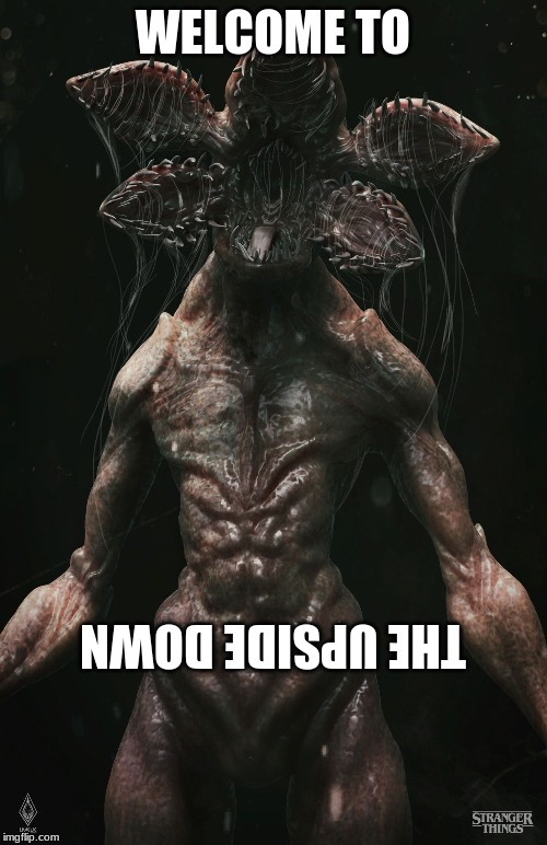 WELCOME TO THE UPSIDE DOWN | image tagged in demogorgon | made w/ Imgflip meme maker