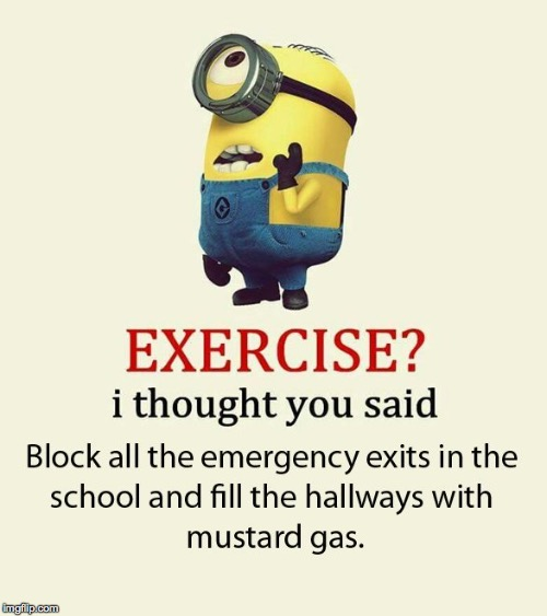 my mom posted this on Facebook because she thought mustard gas was a normal stink bomb. oof | image tagged in mustard gas,terrorism,facebook,facebook mom,minion,exercise | made w/ Imgflip meme maker