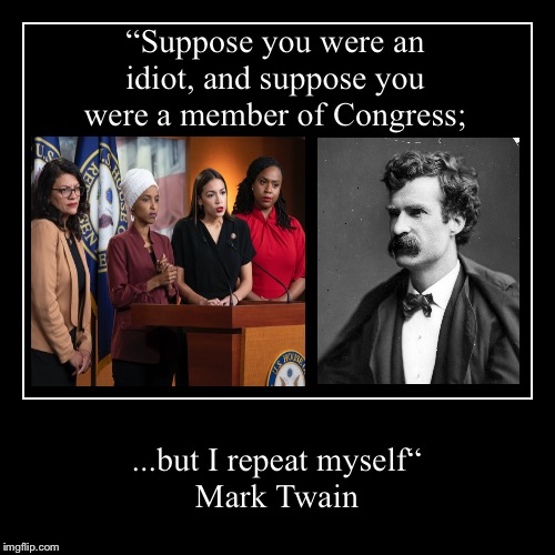 "Mark Twain on Congress | ""Suppose you were an idiot, and suppose you were a member of Congress; 