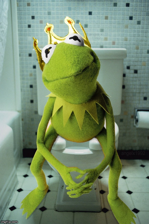 kermit | image tagged in kermit,throne,toilet,muppet,crap,shit | made w/ Imgflip meme maker