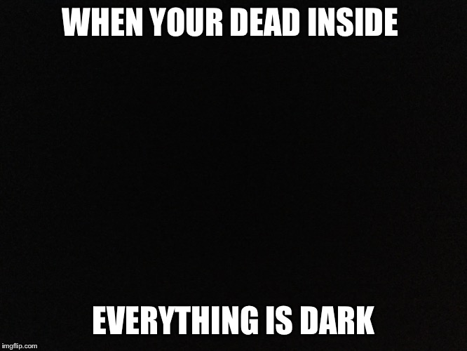 WHEN YOUR DEAD INSIDE EVERYTHING IS DARK | image tagged in darkness | made w/ Imgflip meme maker