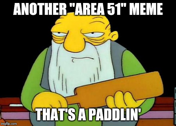 "Please stop , I beg you ! | ANOTHER ""AREA 51"" MEME THAT'S A PADDLIN' 