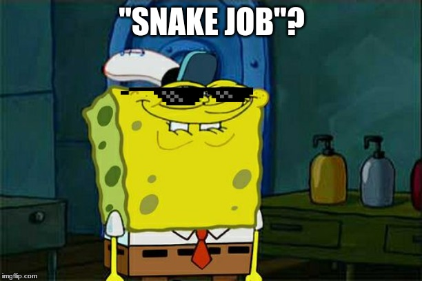 "Dont You Squidward Meme | ""SNAKE JOB""? 