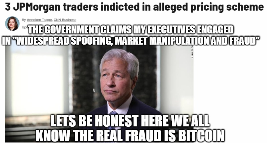 "Pot Calls Kettle Black | THE GOVERNMENT CLAIMS MY EXECUTIVES ENGAGED IN ""WIDESPREAD SPOOFING, MARKET MANIPULATION AND FRAUD"" LETS BE HONEST HERE WE ALL KNOW THE REAL 